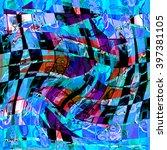 abscract  texture of print... | Shutterstock . vector #397381105