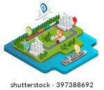 global logistics network. flat...   Shutterstock .eps vector #397388692