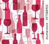 seamless background with wine... | Shutterstock .eps vector #397388902