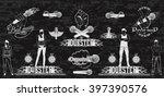 vector set of logos for dubstep ...   Shutterstock .eps vector #397390576