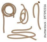abstract rope elements. vector... | Shutterstock .eps vector #397392316