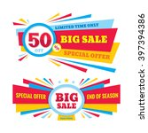 big sale vector banner  ... | Shutterstock .eps vector #397394386