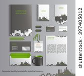 corporate identity template for ... | Shutterstock .eps vector #397405012