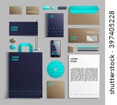 corporate identity template in... | Shutterstock .eps vector #397405228