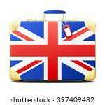simply travel suitcase with... | Shutterstock .eps vector #397409482