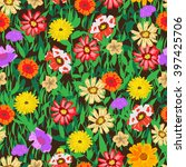 colorful seamless pattern with... | Shutterstock .eps vector #397425706