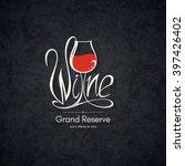 wine list design. vector... | Shutterstock .eps vector #397426402