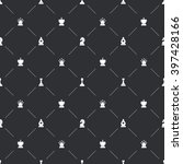 dark seamless pattern with... | Shutterstock .eps vector #397428166