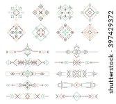 tribal symbols and borders... | Shutterstock .eps vector #397429372
