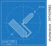 paint roll vector blueprint... | Shutterstock .eps vector #397429882