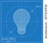 electric bulb vector blueprint... | Shutterstock .eps vector #397429936
