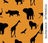 pattern with savanna's animals...