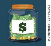 money savings design  vector... | Shutterstock .eps vector #397441018