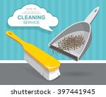 vector set of cleaning service... | Shutterstock .eps vector #397441945