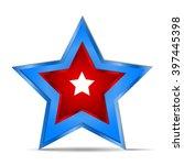 vector icon star blue red white ... | Shutterstock .eps vector #397445398