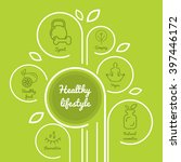 infographics healthy lifestyle... | Shutterstock .eps vector #397446172