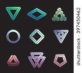 set of impossible shapes ... | Shutterstock .eps vector #397450462