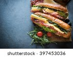 Juicy Submarine Sandwich And...