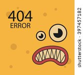 404 error connection over color ... | Shutterstock .eps vector #397457182