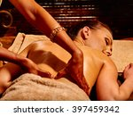 young woman having ayurveda spa ... | Shutterstock . vector #397459342