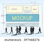 mockup object imitate model... | Shutterstock . vector #397468276