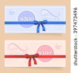 gift voucher design as present... | Shutterstock .eps vector #397473496