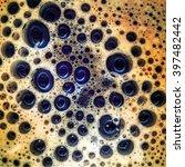 coffee foam with bubbles | Shutterstock . vector #397482442