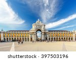 famous arch at the praca do... | Shutterstock . vector #397503196