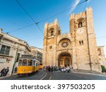 se  lisbon cathedral  with a... | Shutterstock . vector #397503205