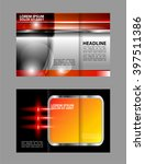 tri fold brochure design and... | Shutterstock .eps vector #397511386
