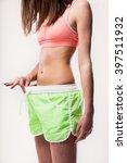 concept of a sex worried girl... | Shutterstock . vector #397511932