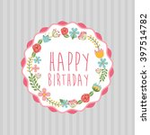 birthday party design  | Shutterstock .eps vector #397514782