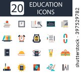 school and education icons | Shutterstock .eps vector #397529782