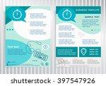 stopwatch icon on vector... | Shutterstock .eps vector #397547926