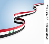 iraqi flag wavy abstract... | Shutterstock .eps vector #397557412