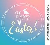 easter modern gradient... | Shutterstock .eps vector #397564642