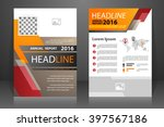 abstract vector modern flyers... | Shutterstock .eps vector #397567186