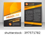 abstract vector modern flyers... | Shutterstock .eps vector #397571782