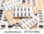 packings of pills and capsules... | Shutterstock . vector #397571986