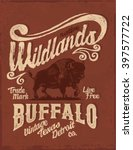 buffalo. western. vintage... | Shutterstock .eps vector #397577722