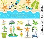 concept bali travel beach... | Shutterstock .eps vector #397581868