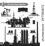 set of oil and gas industry... | Shutterstock . vector #397583872