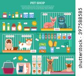 Stock vector pet shop concept with flat cat breed icons vector illustration 397588585