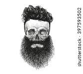 skull hipster style  creative... | Shutterstock .eps vector #397593502