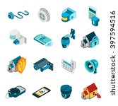 security system isometric icons ... | Shutterstock .eps vector #397594516