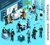 business people isometric... | Shutterstock .eps vector #397594576
