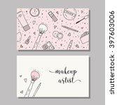 makeup artist business card....   Shutterstock .eps vector #397603006