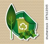 natural and eco design  vector... | Shutterstock .eps vector #397613545