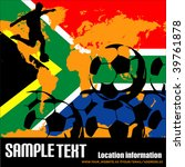 world cup in south africa 2010 | Shutterstock .eps vector #39761878