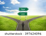 businessman concept  sign now... | Shutterstock . vector #397624096
